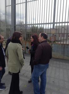 Bruno Bossio e Molinari ingresso carcere Paola