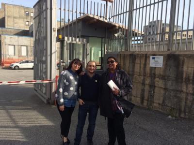 Valentina Moretti, Emilio Quintieri e Shyama Bokkory in visita al Carcere di Catanzaro