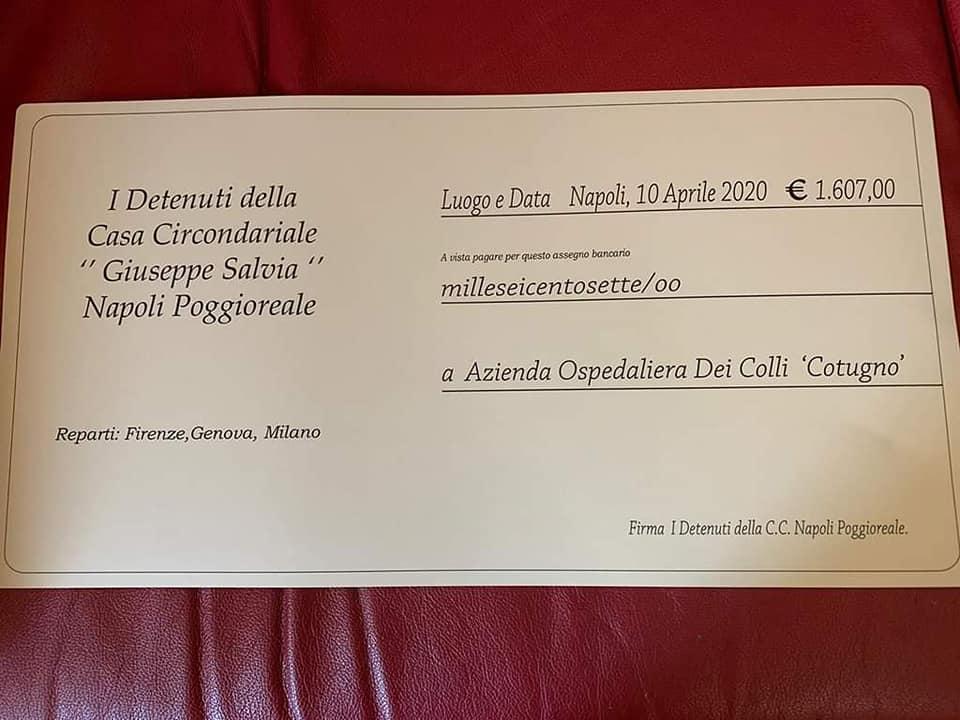 Detenuti CC Poggioreale donazione 2